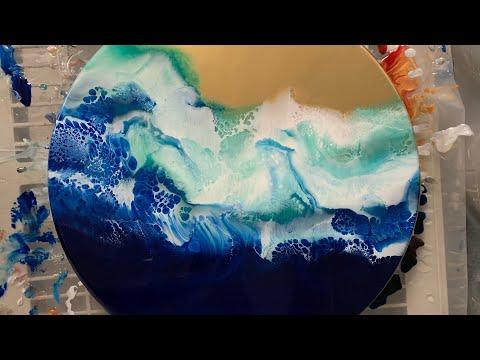 NEW RESIN=Resin Art epoxy painting~ tutorial...DIY