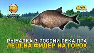 Рыбалка в России река Пра Лещ на фидер на горох theFisher Online 21