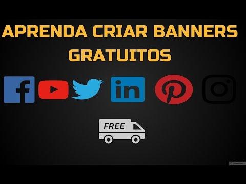 Como criar banners grátis | Capa YouTube, Facebook e outras redes sociais
