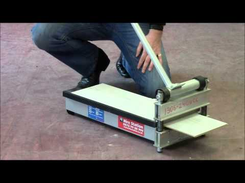 How to use the Hire Station laminate floor cutter