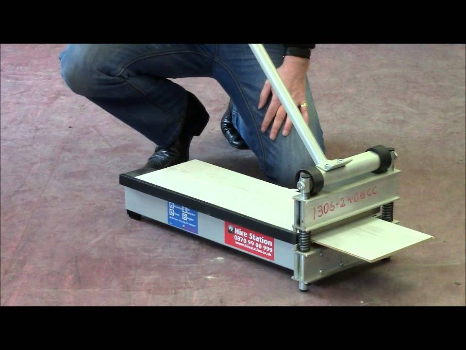 How To Use The Hire Station Laminate Floor Cutter   YouTube