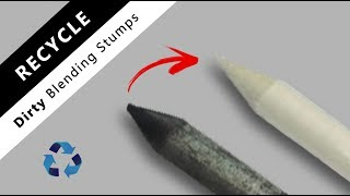 How to clean old & dirty blending stumps   tortillons