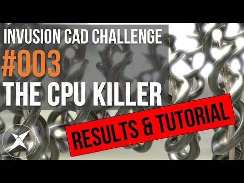 Invusion CAD Challenge #003 RESULTS & TUTORIAL! No-one Got It Right! Not Even Me!
