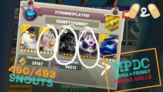 Angry Birds Evolution Keira Fringy Matilda Combo MPDC Gameplay