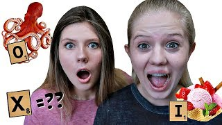 Eating Everything in Alphabetical Order || Taylor & Vanessa