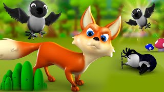 The Cunning Fox and Crow English Story 3D Animated Moral Bedtime Stories for Kids Fox Crow Tales