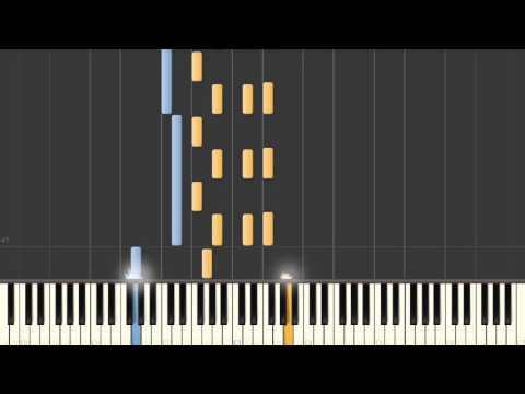 Desperados Under The Eaves (Warren Zevon) - Synthesia piano accompaniment tutorial