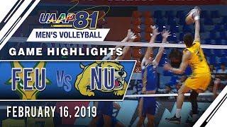 UAAP 81 MV: FEU vs. NU | Game Highlights | February 16, 2019