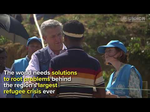 UN Refugee Chief meets Rohingyha in Bangladesh Refugee Camp