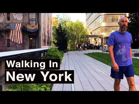 New York Video Walk — Manhattan High Line【4K】🇺🇸