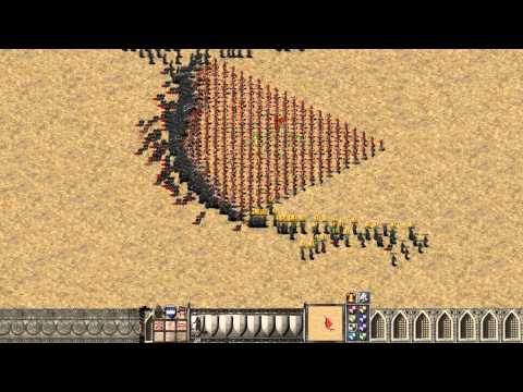 Stronghold Crusader HD 1000 Archers vs 1000 Assassins