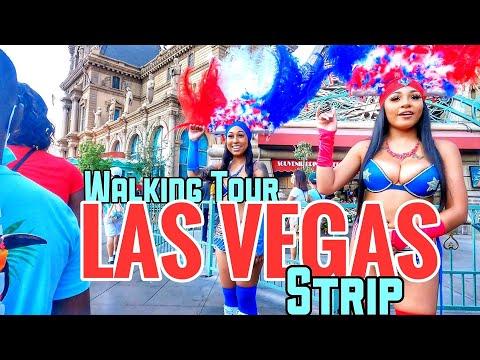 LAS VEGAS STRIP    THURSDAY WALKING TOUR 🌞CLEAR SKIES 🌡103°F 🕐6:30PM JULY 15, 2021