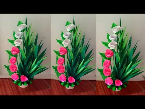 diy easy paper flower bouquet / diy paper flower bouquet easy / handmade flower bouque art
