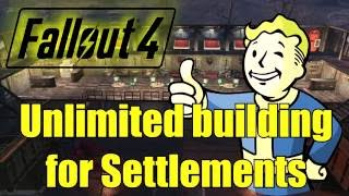 Fallout 4: how to increase the size of your settlements glitch