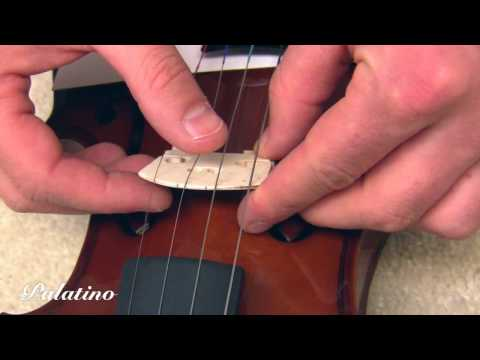 Palatino Violin: Installing the Bridge