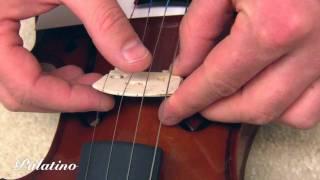 Palatino Violin: Installing tнe Bridge