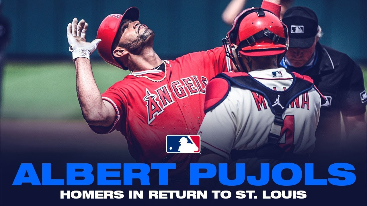 new product c9a2d a39da Albert Pujols homers during emotional St. Louis return, gets standing  ovation from Cardinals fans
