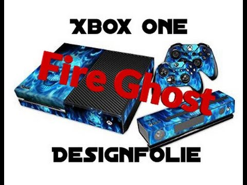 Xbox one design folie fire ghost world youtube for Folie zum bekleben von kuchenfronten
