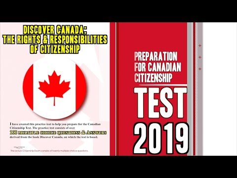 Canadian Citizenship Naturalization Test (2019/2020)