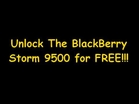 How To Unlock BlackBerry Storm 9500 Free - MEP Code