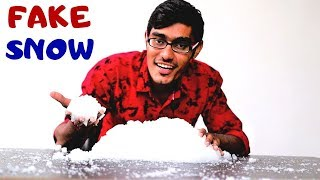 How to Make Artificial Snow At Home? FAKE SNOW |