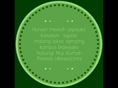 Joyosuko real estate Malang kawasan kampus by Muji Rumah Prioritas 082140573703
