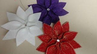 Diy:Manualidades para Navidad: Flor de pascua para decorar el arbol de Navidad
