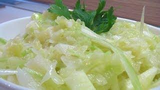 Салат из белокочанной капусты с яблоками и сельдереем. Книга о вкусной и здоровой пище