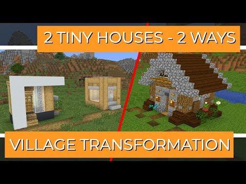 Minecraft: How to Transform a Village in Modern & Rustic | Small Houses (with Avomance & KyleKraft) thumbnail