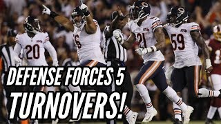 Bears vs Redskins Postgame Reaction + Analysis! Defense Forces 5 Turnovers!
