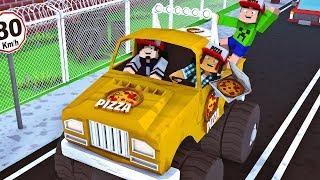 Minecraft : O CARRO MAIS RÁPIDO PARA ENTREGAR PIZZA ! #04