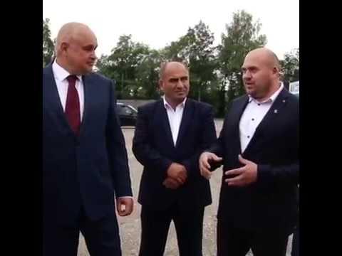 Сергей Цивилев осмотрел в Белово строительную площадку стадиона «Металлург»