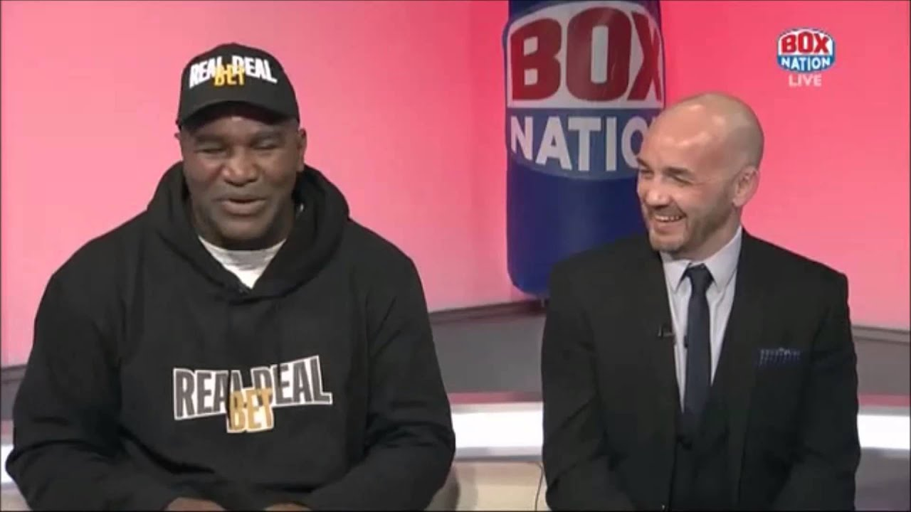 """Lennox Lewis is the only person to ever get under my skin"" - Evander Holyfield"