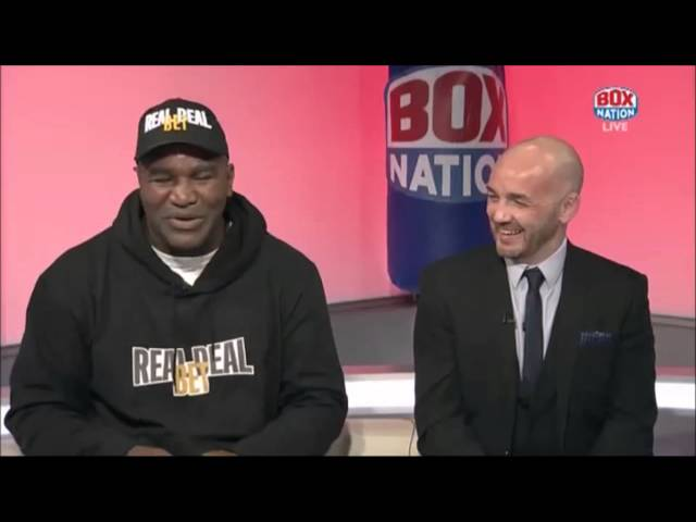 """""""Lennox Lewis is the only person to ever get under my skin"""" - Evander Holyfield"""