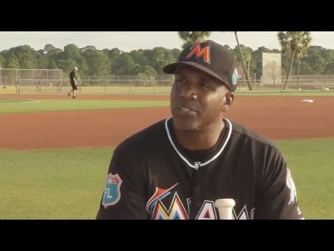Barry Bonds on the Miami Marlins coaching staff