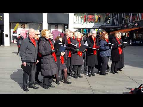 Mane-Firmino-Salah song (Liverpool street choir, 2018.03.07)