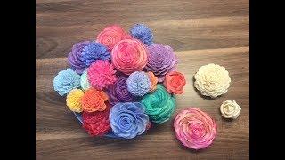 DIY Sola Holz Blumen einfärben und in Form bringen der Blüte, einfach und schnell