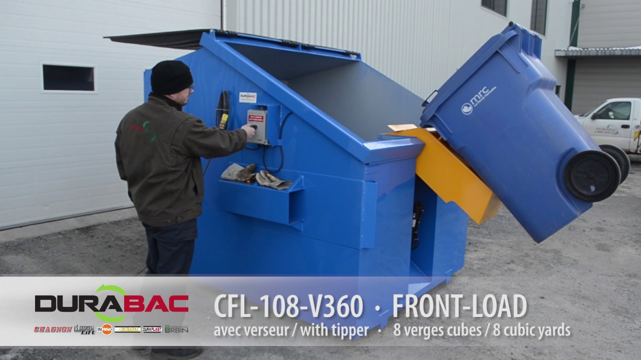 Cfl 108 V360 8 Cubic Yard Front Load Container With Tipper