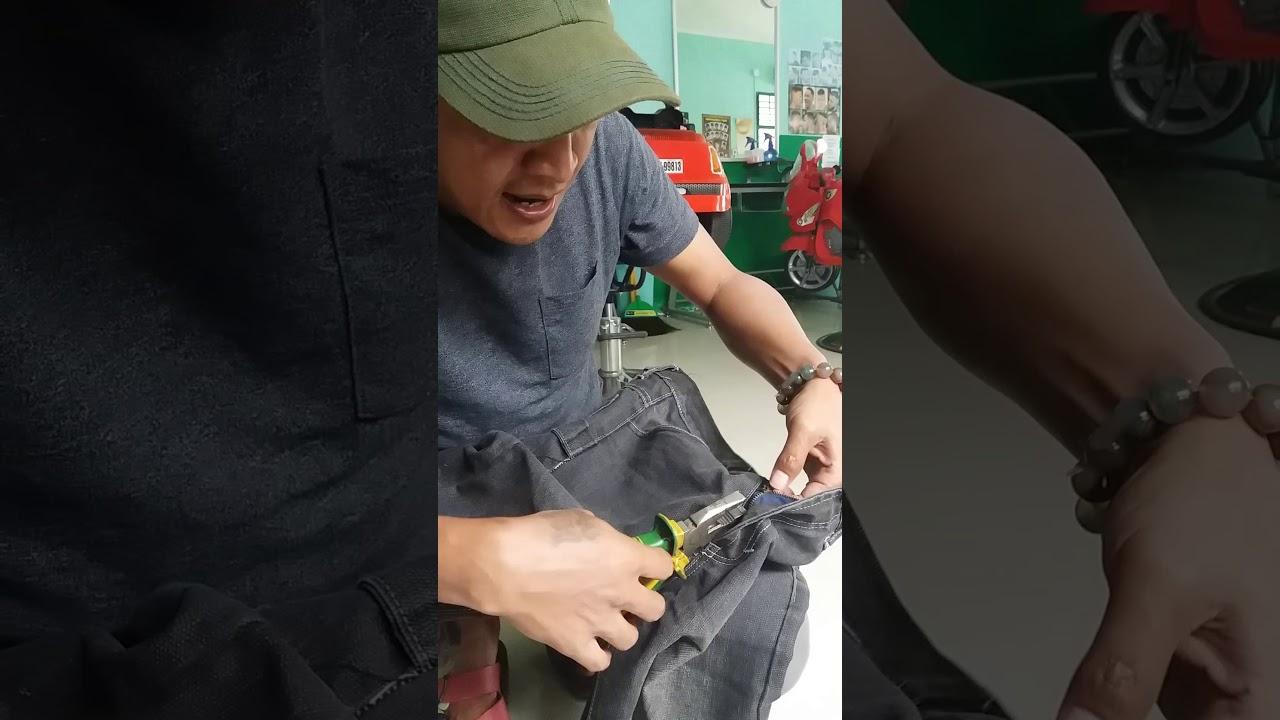 Cara Memperbaiki Resleting Yang Rusak Tas Jaket Celana Youtube