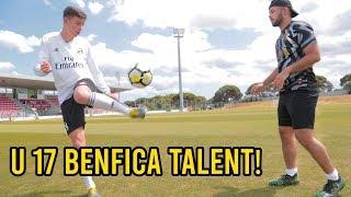 U 17 Benfica Talent Adrian Bajrami VS Cubanito l FUSSBALL CHALLENGE!