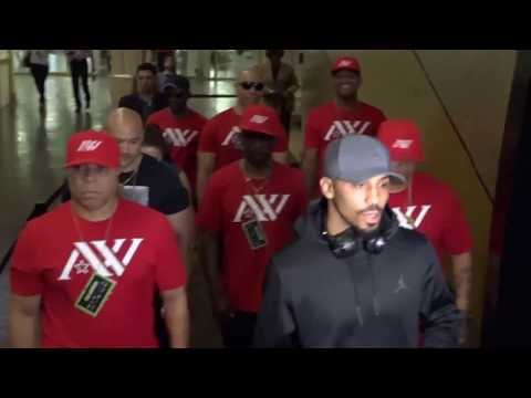 ANDRE WARD & SERGEY KOVALEV GRAND ARRIVALS; GREETED BY MEDIA & FANATICS