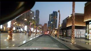 مناظر روعة في شوارع دبي مرورا بمرسى دبي الى منطقة الممشى جي بي ار the walk in dubai