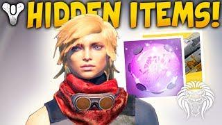 Destiny 2: HIDDEN ITEMS & VEHICLE FLAIRS! Shader Randomizer, Rare Strike Spawns & Effect Trading