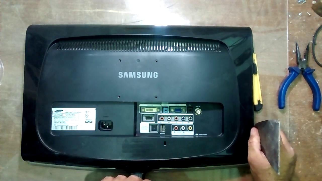 Como Abrir Um Tv Samsung 2033m Sem Danificar A