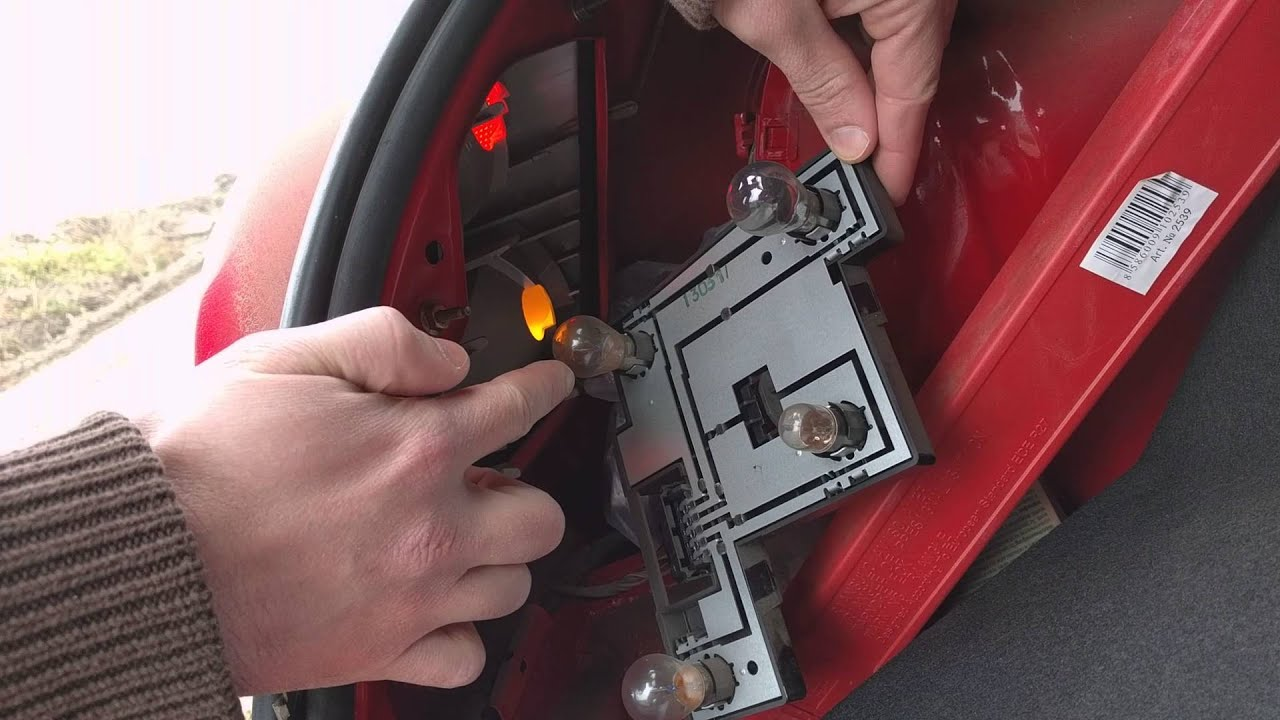 How to change tail lights break lights on a ford fiesta  YouTube