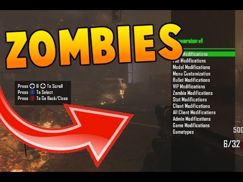 HOW TO GET A Black Ops 2 Zombies *MOD MENU* EASY WITHOUT MODDED XBOX! - (BO2 THEATRE INFECTIONS!)