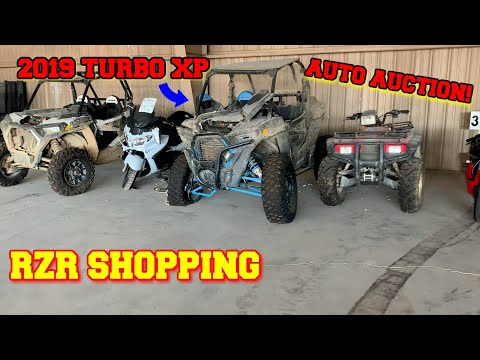 I went to the salvage AUCTION shopping for a 2019 Polaris RZR TURBO XP