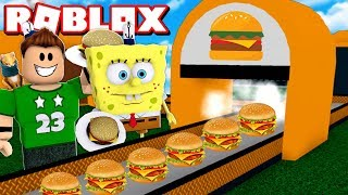 MY OWN MANUFACTURE OF HAMBURGUESAS with SPONSILA BOB in ROBLOX