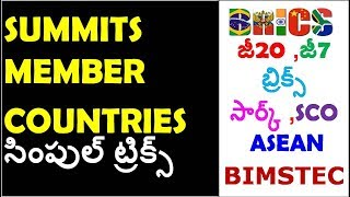 Download Imp Summits and Its Memeber Countries 2019 Tricks | Gk Tricks in telugu Mp3 and Videos