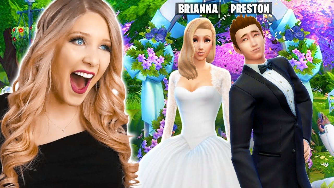 Real Weddings Youtube: I'm Getting Married To PrestonPlayz! (Real Sims 4 Wedding